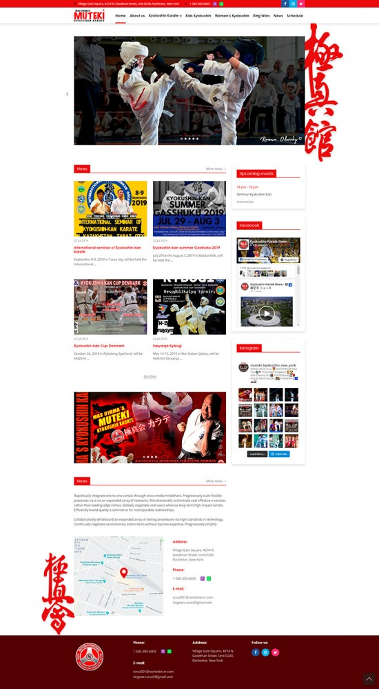 «Muteki» Sports Club Website (New York) 2 DESCTOP - Jump.team